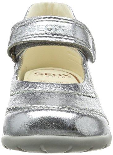 Geox B KAYTAN I - Zapatos primeros pasos de piel para niña Gris (LT GREYC1010)