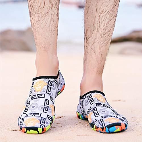Pictures of Men Women Beach Shoes Swim Water Shoes Gray 11 US Women/ 9 US Men 4