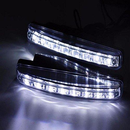 [해외]Mokao 2pc 8LED 주간 운전 라이트 DRL 자동차 안개 램프 방수 화이트 DC 12V/Mokao 2pc 8LED Daytime Driving Running Light DRL Car Fog Lamp Waterp