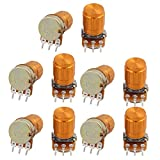 uxcell 10 PCS WH148 50K ohm 3P Rotary Linear Taper Potentiometers w Knob