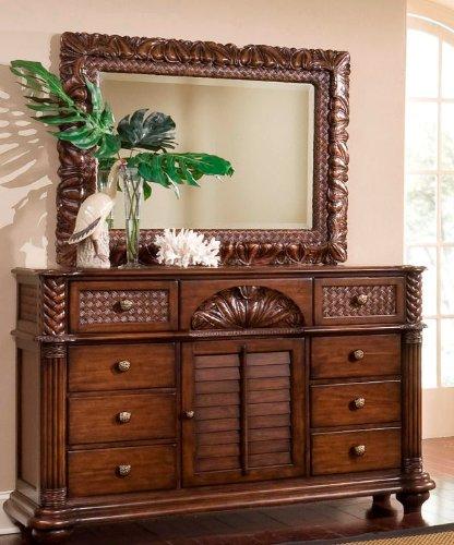 Pine Triple Dresser (Progressive Furniture P142-24 Palm Court II Triple Dresser, 66 x 21 x 43, Brown)