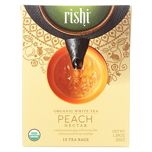 Rishi Organic Tea - Peach Nectar - Case of 6 - 15 Bags