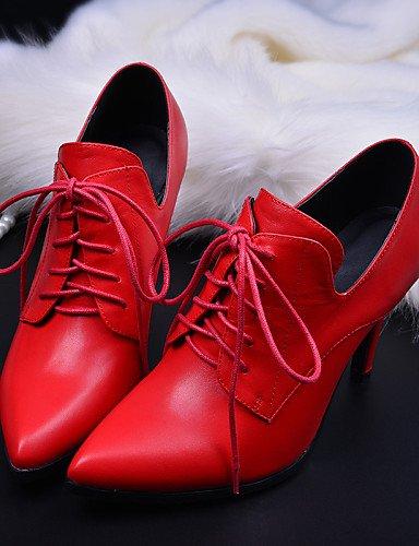 Chaussures Pointu Bout Cuir Talon 2016 5 Njx Rouge Cône Noir Mariage 5 Uk5 Eu38 Habillé Femme Cn38 Confort Brown Richelieu us7 Extérieure Marron O5q7qZw