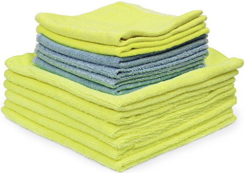 Eurow Microfiber Bag of Rags Cleaning Towels 12-Pack