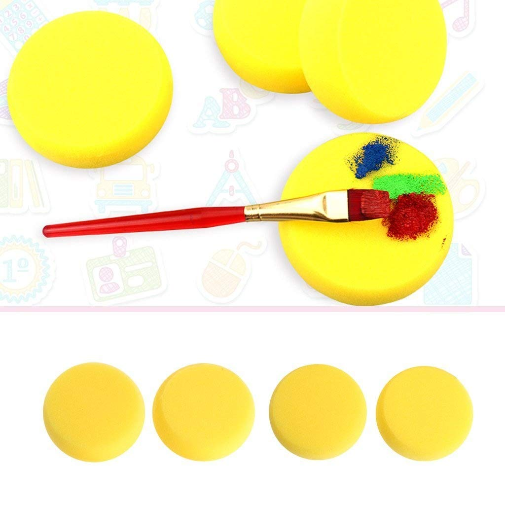 Amrka Round Sponge Brushes For Painting Art Drawing Craft Clay Pottery Sculpture Cleaning Tool (5Pcs) by Amrka (Image #2)