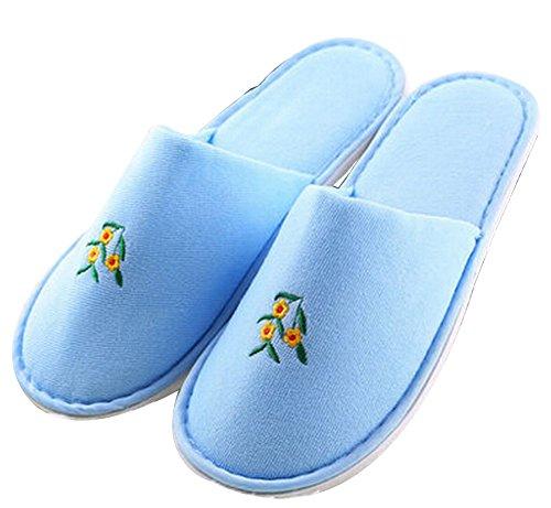 Set von 5 Einweg-Zehenspitzen Pantoffeln Schlittschuhläufer [Blau]