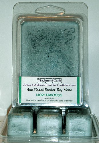 2 Pack Scented Soy Wax Melts - Northwoods by The Scented Castle