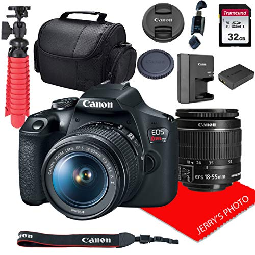 Canon EOS Rebel T7 DSLR Camera w/ 18-55mm F/3.5-5.6 is II Lens + 32GB SD Card + More