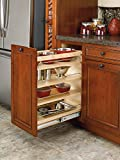 Rev-A-Shelf - 448-BCSC-11C - 11 in. Pull-Out Wood Base Cabinet Organizer with Blum soft-close slides