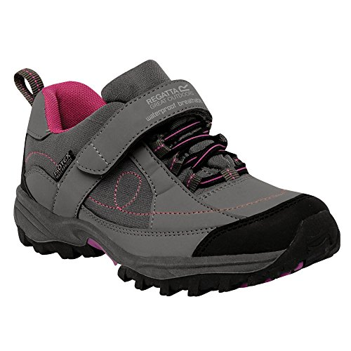 Regatta Girls Trailspace Low Waterproof Breathable Walking Shoes Grey Steel