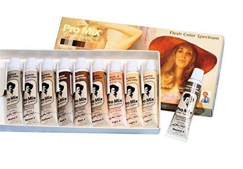 (John Howard Sandens Pro Mix Oil Color System, 1.25 oz (37 ml) Tubes, Assorted Colors, Set of 10)