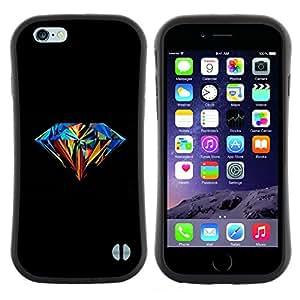 "Hypernova Slim Fit Dual Barniz Protector Caso Case Funda Para Apple (5.5 inches!!!) iPhone 6 Plus / 6S Plus ( 5.5 ) [Diamante colorido Pintura Arte Negro""]"