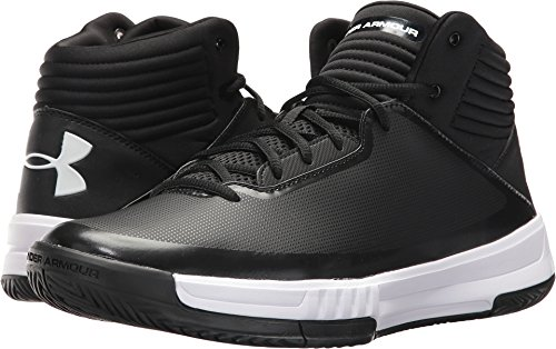 Under Armour  Men's UA Lockdown 2 Black/Black/White 11 D US (Under Armour Basketball Shoes 11)