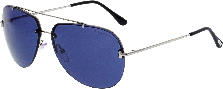 4a7640d0ebbd Tom Ford BRAD-02 FT 0584 SHINY PALLADIUM BLUE unisex Sunglasses   Amazon.com.au  Fashion