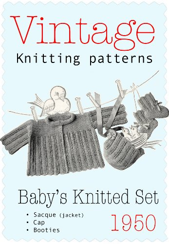 - 3-piece Baby's Knitted Set - Vintange Knitting Pattern