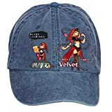 Nusajj Odin Sphere Leifdrasir Velvet Unstructured 100% Cotton Caps Design for Men Navy One Size