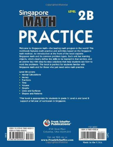 Amazon.com: Singapore Math Practice, Level 2B, Grade 3 ...
