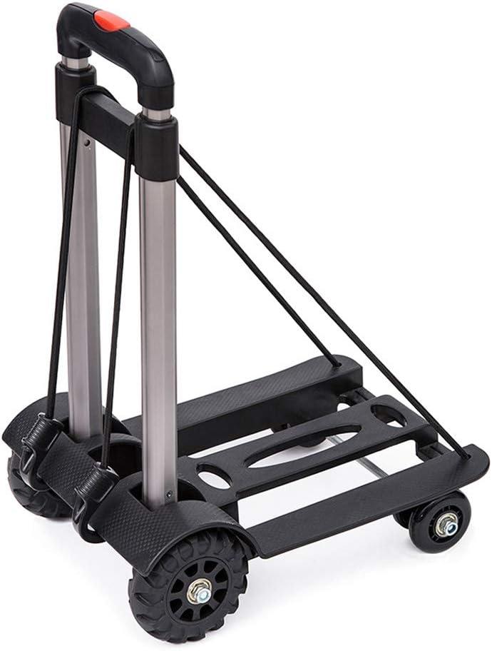 Foldable Sack Truck Heavy Duty 50KG Folding Trolley Black Luggage Hand Cart