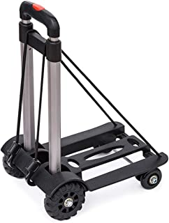 Luggage Cart 4 Wheels Lightweight Foldable Robust Luggage Travel Trolley - Carries Up to 50KG