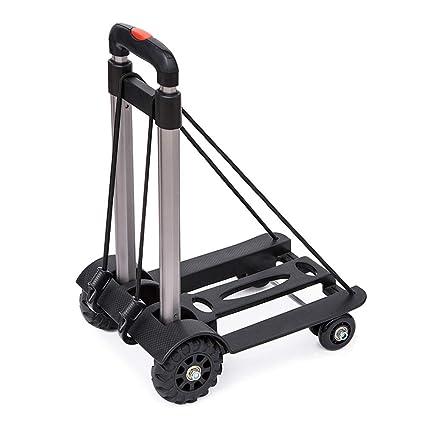 2cad51a851ba Amazon.com: Luggage Cart 4 Wheels Lightweight Foldable Robust ...