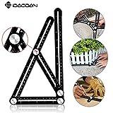 IDAODAN Angleizer Template Tool Full Metal Multi Functional Ruler Aluminum Alloy Multi Angle Measuring Tool