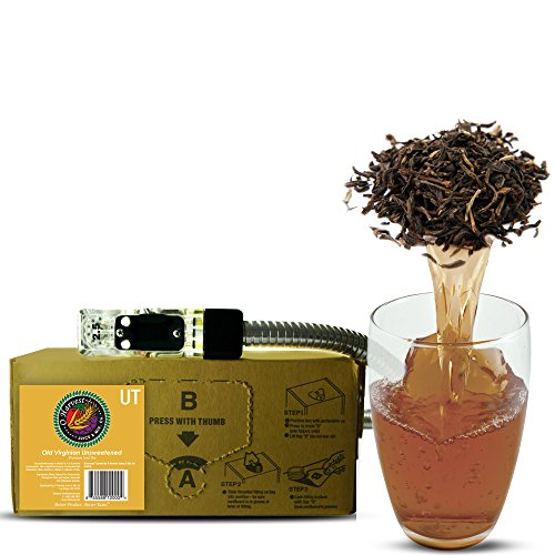 Old Virginian Craft Unsweetened Tea (3 Gallon Bag-in-Box Syrup Concentrate) - Box Pours 18 Gallons of Iced Tea - Use with Bar Gun, Soda Fountain or SodaStream