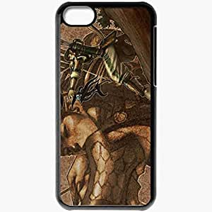 Personalized iPhone 5C Cell phone Case/Cover Skin 4story Black