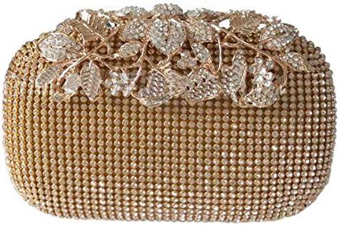 ユニークなゴールドラインストーンのイブニングバッグクラッチ財布パーティーブライダルウエディング 美しいファッション