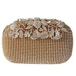 Unique Gold Rhinestone Evening Clutch