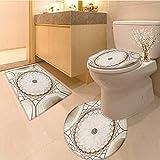 MikiDa Bathroom Non-Slip Floor Mat symmetrical ceiling dome pattern in india Machine-Washable