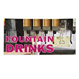 Fountain Drinks Outdoor Fence Sign Vinyl Windproof Mesh Banner With Grommets - 2ftx3ft, 4 Grommets