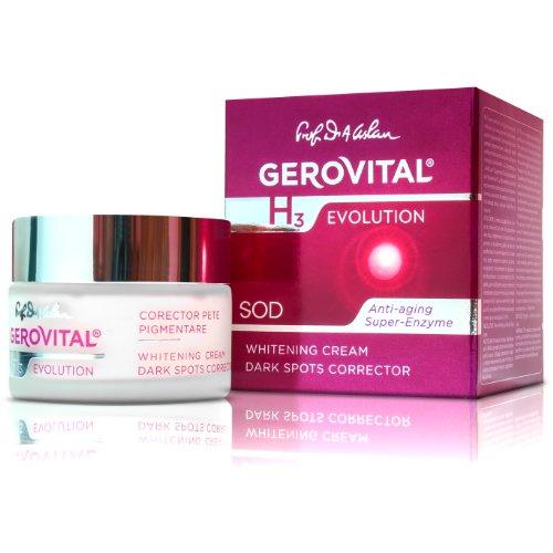 GEROVITAL H3 EVOLUTION, blanchissant la crème des taches sombres Correcteur Avec la superoxyde dismutase (Le Super Enzyme anti-vieillissement) 30 +