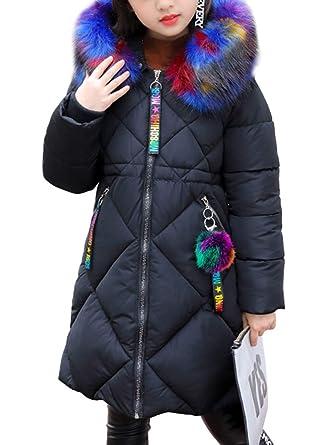 Phorecys niña Abrigo Acolchado Mi-Long Otoño Invierno con Capucha Forro plumífero Caliente Zip: Amazon.es: Ropa y accesorios