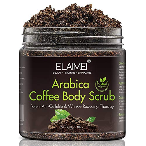 Arabica Coffee Scrub Body, 100% Natural with Organic Coffee, Coconut and Shea Butter, Salt Scrubs to Exfoliate & Moisturize Skin Birthday Gifts for Women Great Gift - 8.8 oz