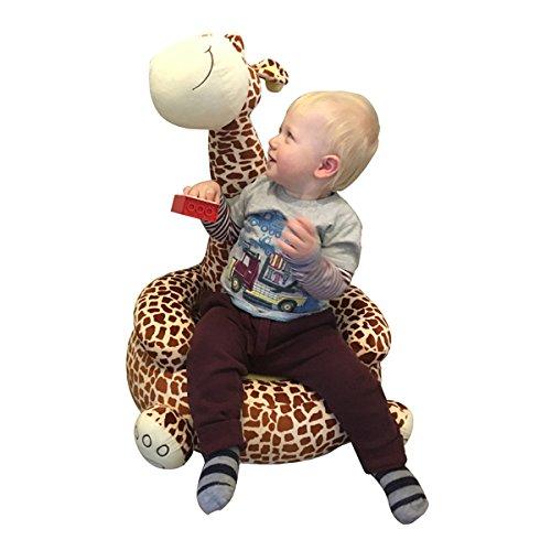 Los niños de peluche jirafa Sentado silla - disponible en Rosa o marrón - Entrega gratuita, marrón: Amazon.es: Hogar