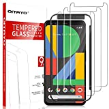 [3 Pack] QITAYO Screen Protector for Google Pixel 4, [Tempered Glass] [Scratch Resistant] [Alignment Frame] Google Pixel 4 Screen Protector