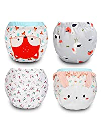 MooMoo Baby Underwear CutensilPotty Training Pants, Cotton Toddler Potty Training Pants 4 Packs,12M-3T Boys and Girls