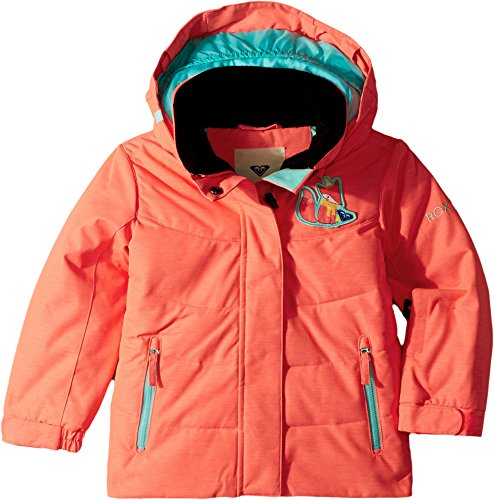 Roxy Little Girls' Anna Snow Jacket, Neon Grapefruit, 3 by Roxy