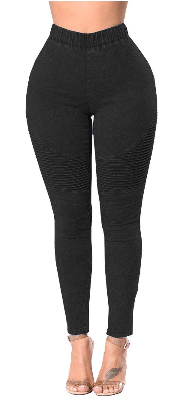 774f47307c5d3a Womens High Waisted Skinny Jeans Leggings Stretch Denim Butt Lift ...