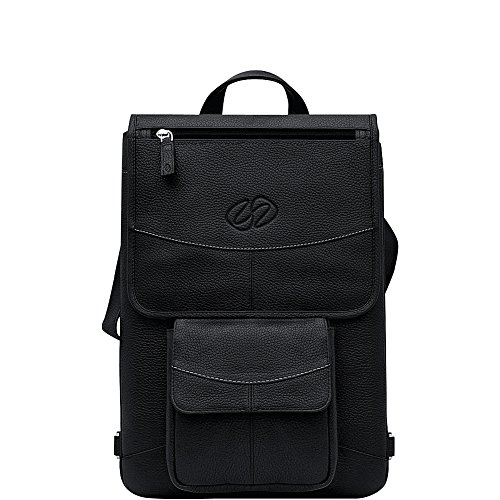 MacCase Premium Leather 12'' MacBook Flight Jacket + Backpack Option (Black) by MacCase