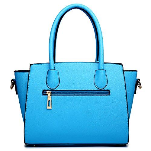 porter l'épaule pour femme Bleu moyen Blanc Miss à à Sac Lulu XW0wcpnqUR