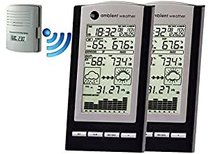 Ambient Weather WS-1171-2-KIT Dual Zone Wireless Advanced Weather Station with Temperature, Dew Point, Humidity with Calibration and Barometer