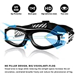 491cb48aba Unisex Kids Sports Glasses Anti-UV Shock-Proof Protective Glasses Safety  Goggles w  Adjustable Strap for Basketball Football Hockey Rugby Baseball  Soccer ...