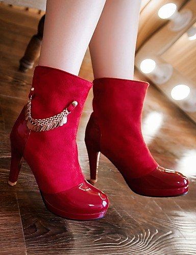 Eu41 5 Cono us7 Red A Botas De 5 Casual 5 Negro Zapatos Xzz Uk5 La Moda Eu38 us9 Rojo Azul Semicuero 10 8 5 Blue Cn38 Uk7 Mujer Cn42 Puntiagudos Vestido Tacón WTIpa4qc