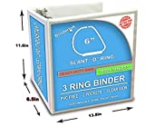 3 Ring Binder, Professional D Ring 6 Inch