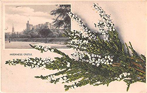 Scotland, UK Old Vintage Antique Post Card Inverness Castle 1909