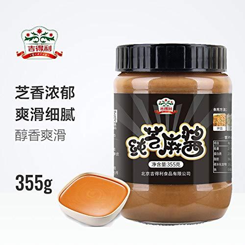 吉得利 纯芝麻酱 火锅蘸料 凉拌菜热干面拌面酱355g Jedley Pure Sesame Sauce Hot Pot Dipping Material Hot and Dry Mixed Noodle Sauce ()