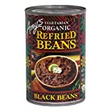 Amy's Organic Refried Black Beans, 15.4-Ounce Cans ( Value Bulk Multi-pack)(PACK OF 60)