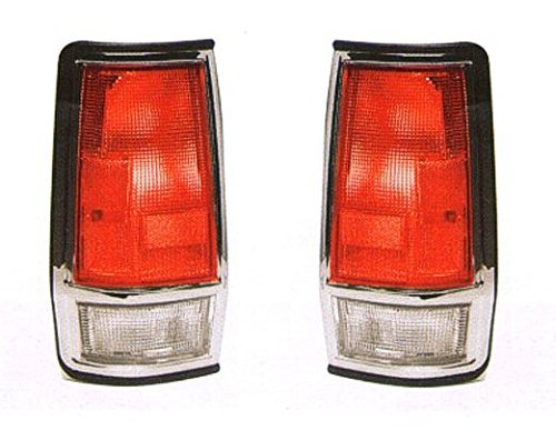 Driver and Passenger Taillight Tail Lamp Replacement for Nissan Pickup Truck 26555-80W00 26550-80W00