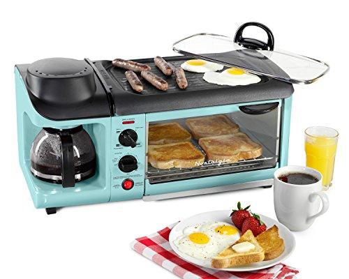Nostalgia BSET300AQ BSET300BLUE Breakfast Station, Blue - smallkitchenideas.us